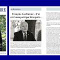 La revue mensuelle suisse «LE REGARD LIBRE» datée d'octobre 2018 publie un long entretien avec François Asselineau.
