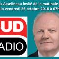 Juste avant notre université d'automne, François Asselineau est l'invité de la matinale de Sud-Radio vendredi 26 octobre 2018 à 07h40.