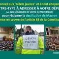 Conseil aux Gilets Jaunes : LETTRE-TYPE À ADRESSER À VOTRE DÉPUTÉ (et AUX SÉNATEURS DE VOTRE DÉPARTEMENT) pour réclamer la destitution de Macron par la mise en œuvre de l'article 68 de la Constitution