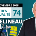 EA74 : Gilets Jaunes – Macron – Budget Italien – Brexit – Loi Fake News – Legislatives