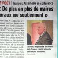 Le «Dauphiné» consacre un long article à la conférence de François Asselineau au Poët (Hautes-Alpes), qui a fait salle comble samedi 10 novembre.