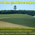 QUE RESTE-T-IL DU GAULLISME AUJOURD'HUI ? == Journée de visites et conférence avec François ASSELINEAU à Colombey les Deux Églises Vendredi 7 décembre 2018.