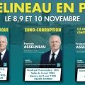 François Asselineau tient des réunions publiques dans le Var, les Alpes-Maritimes et les Hautes-Alpes les 8, 9 et 10 novembre.