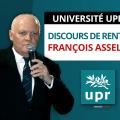 Discours de rentrée de François Asselineau – Université d'automne de l'UPR 2018