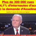 La demande de François Asselineau sur CNEWS pour que les parlementaires lancent la procédure de destitution de Macron vient de franchir le cap des 300 000 vues
