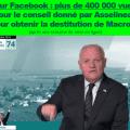 Plus de 400 000 vues sur Facebook pour le conseil donné par François Asselineau pour obtenir la destitution de Macron.