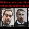 Des affiches-chocs pour dénoncer les violences du régime Macron fleurissent dans Paris et dans de grandes villes de France.