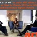 ARTE diffuse 2 «bonus» exceptionnels au débat animé par Raphaël Enthoven le 19 janvier 2019 entre Ulrike Guérot et François Asselineau.