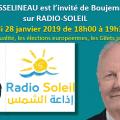 Réécoutez l'entretien de François ASSELINEAU, invité de Boujema HADRI sur RADIO-SOLEIL le lundi 28 janvier 2019 de 18h00 à 19h30.