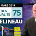 Attentat – Brexit – Acte XVIII – Loi pacte – Débat France TV – EA75 de François Asselineau