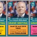 Ne manquez pas les 3 grands meetings de campagne électorale dans le sud de la France : NÎMES, TOULOUSE et BORDEAUX.