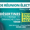 Grande réunion publique de François Asselineau à Désertines (près de Montluçon) le 5 mai 2019 à 15h30.
