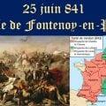 —- 25 juin 841 – 25 juin 2019 —-  Il y a 1178 ans, la Bataille de Fontenoy-en-Puisaye marquait les débuts de la France et de son indépendance nationale face à l'empire européen.
