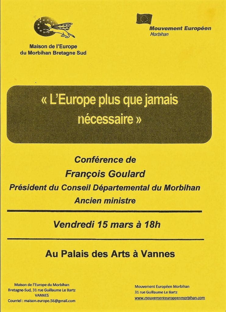 affiche conference mouvement europeen morbihan