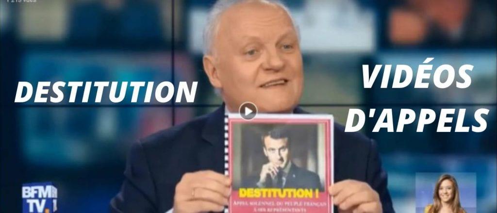 Vidéos d'appels à destitution de macron