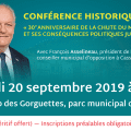 30e ANNIVERSAIRE DE LA CHUTE DU MUR DE BERLIN : Conférence historique de François Asselineau à Cassis (13).