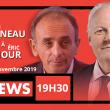 Débat entre François Asselineau et Éric Zemmour, Ce soir, mardi 19 novembre 2019 à 19h30 sur CNEWS