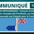 ÉLECTIONS BRITANNIQUES : François Asselineau se réjouit du triomphe des Pro-Brexit qui doit servir d'exemple aux Français pour le Frexit.