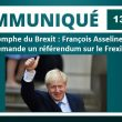 Triomphe du Brexit : François Asselineau demande un référendum sur le Frexit.