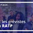 François Asselineau à la rencontre du personnel en grève de la RATP le 24 décembre 2019