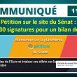 COMMUNIQUÉ DE PRESSE – Mardi 11 février 2020, 19h25. Pétition sur le site du Sénat : déjà 3 300 signatures pour un bilan de l'euro.