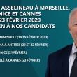 FRANÇOIS ASSELINEAU À MARSEILLE, ANTIBES, NICE ET CANNES DU 18 AU 23 FÉVRIER 2020 EN SOUTIEN À NOS CANDIDATS