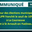 Municipales : l'UPR franchit le seuil de 10 % à La Courneuve et à Saint-Arnoult-en-Yvelines.