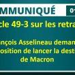 Article 49 alinéa 3 sur les retraites : François Asselineau demande à l'opposition de lancer la destitution de Macron.