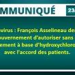 Coronavirus : François Asselineau demande au gouvernement d'autoriser sans délai le traitement à base d'hydroxychloroquine, avec l'accord des patients.