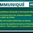 """Asselineau demande à Macron de retirer la France des exercices de l'OTAN, de rappeler nos troupes basées en Estonie, et de consacrer les économies ainsi réalisées à """"faire la guerre"""" au coronavirus en France."""