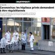 Énième sabotage : l'État refuse de réquisitionner les hôpitaux et cliniques privés qui sont presque vides, malgré la demande pressante du président de leur fédération !