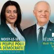 François Asselineau sera à Noisy-le-sec (93) ce mardi 10 mars à 20h30 pour soutenir Aïcha Bourak et la liste UPR à l'élection municipale.