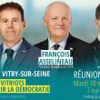 François Asselineau et Jérôme Yanez seront à Vitry-sur-Seine (94) ce mardi 10 mars à 19h00 pour soutenir Lionel Kahan et la liste UPR à l'élection municipale.