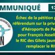 Échec de la pétition pour le référendum sur la privatisation d'ADP : pour François Asselineau, le RIC des Gilets jaunes doit remplacer le RIP.