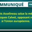 François Asselineau salue la mémoire de Jacques Calvet, opposant résolu à l'Union européenne.