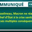 == Allocution de Macron du 13 avril 2020 ==Pour Asselineau, Macron ne réagit pas en chef d'État à la crise sanitaire et à ses multiples conséquences.