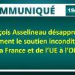 François Asselineau désapprouve fermement le soutien inconditionnel de la France et de l'UE à l'OMS.