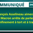 François Asselineau aimerait que Macron arrête de parler du déconfinement à tort et à travers.
