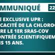 ÉTUDE EXCLUSIVE UPR : L'EFFICACITÉ DE LA CHLOROQUINE CONTRE LE 1er SRAS-CoV DÉMONTRÉE SCIENTIFIQUEMENT DEPUIS 15 ANS.