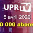 === UPR-TV a franchi le cap des 140 000 abonnés le 5 avril 2020 au matin ===. Découvrez comment UPR-TV se classe maintenant parmi 57 chaînes d'information sur YouTube.