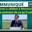 Pour François Asselineau, Macron a célébré à Montcornet le contraire de ce qu'il est.