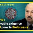 Coronavirus et géopolitique : l'incroyable exigence du FMI pour la Biélorussie – UPR