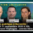 Élection législative partielle : réunion publique à Barentin (76) avec François Asselineau, Jean-Christophe Loutre et Amélie Marquer, ce vendredi 11 septembre 2020 à 20h (salle Gérard Thiphagne) – entrée libre