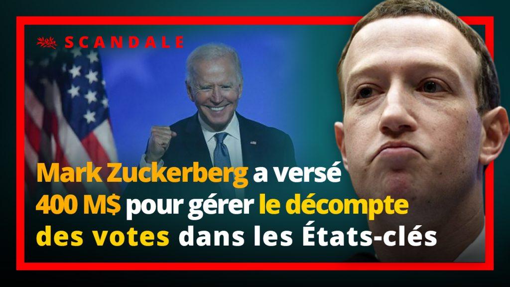 Marc Zuckerberg finance l'organisation des élections et le décompte des voix