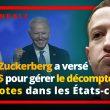 Révélation : Le patron de Facebook a versé 400 M$ pour organiser les élections et le comptage des bulletins de vote dans des États-clés.