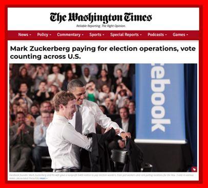 Marc Zuckerberg finance l'organisation des élections et le comptage des bulletins de vote