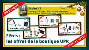 Illustration des offres de la boutique UPR spécial fêtes