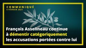 Communiqué de l'UPR : François Asselineau continue à démentir catégoriquement les accusations portées contre lui