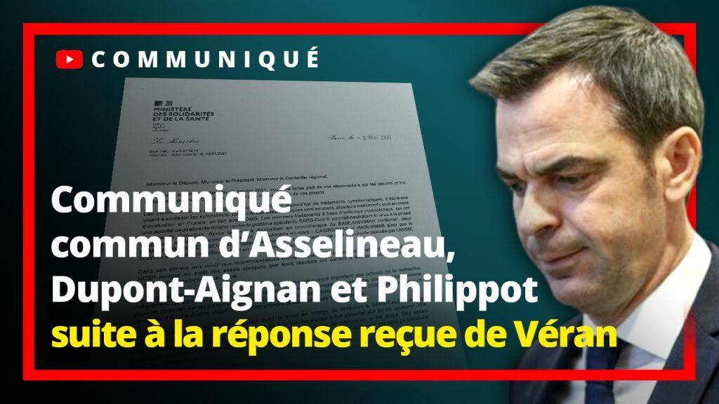 Communiqué commun d'Asselineau, Dupont-Aignan et Philippot à la réponse reçue de Véran