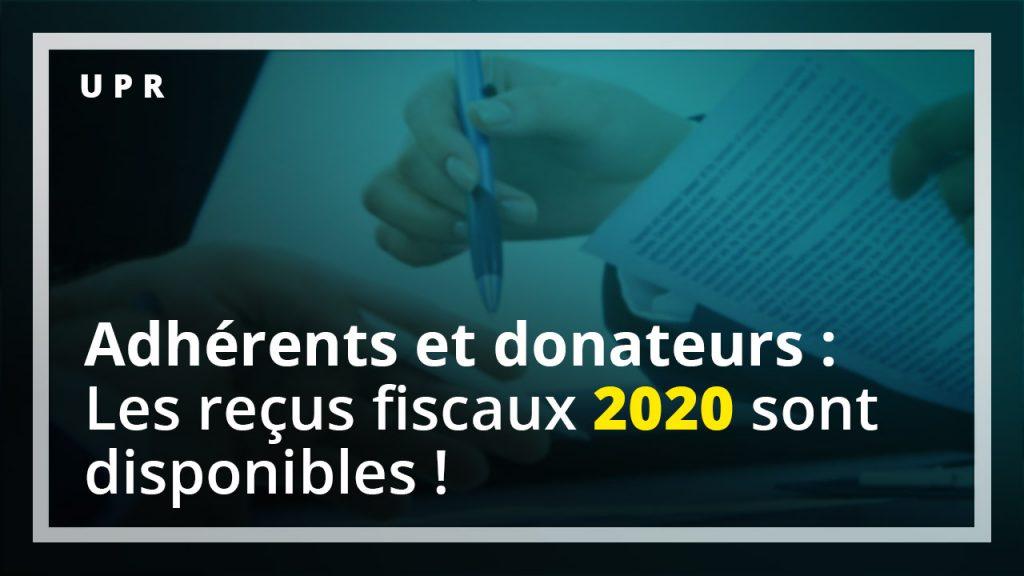 Reçus fiscaux 2020